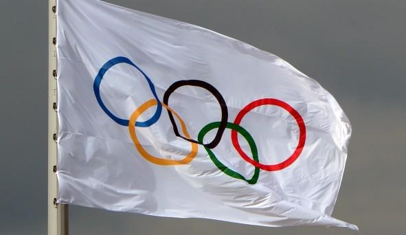 sortie en ligne trouver le prix le plus bas extrêmement unique Les anneaux et le drapeau olympique -